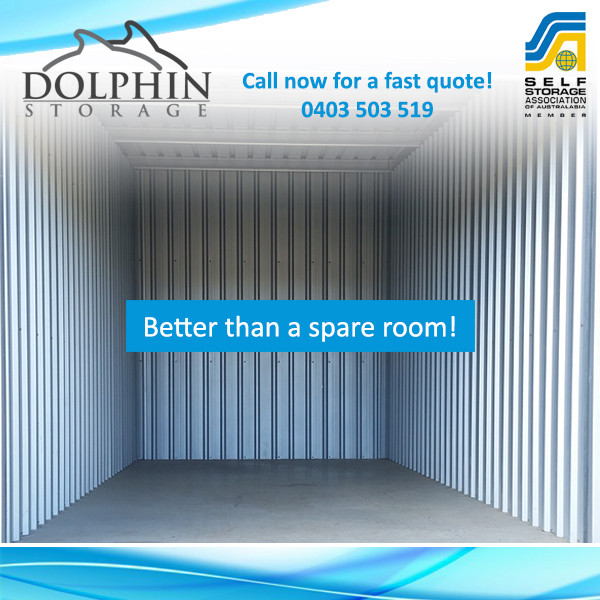 Better than a spare room - self storage units servicing mandurah and pinjarra