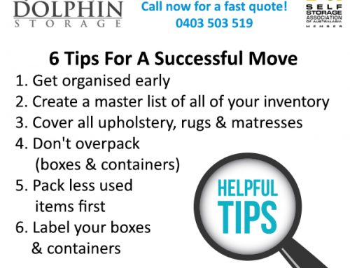 6 Tips For A Successful Move Into Self Storage