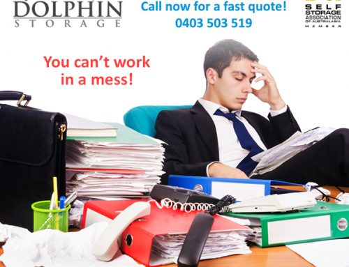 You can't work in a mess