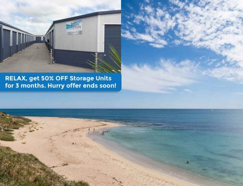 Relax, get 50% off Storage Units, for 3 months. Hurry offer ends soon!